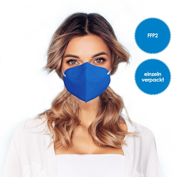 FFP2 Atemschutzmaske 1 Stück *Blau*