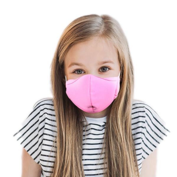 Kinder Mund- und Nasenmaske *rosa*