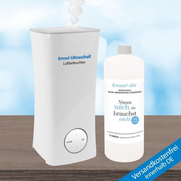 Luftbefeuchter + Emmi-BioDes Raumdesinfektionskonzentrat