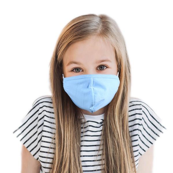 Kinder Mund- und Nasenmaske *blau*