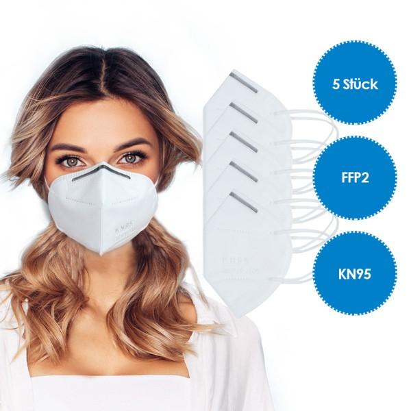 5 Stück - FFP2 Atemschutzmaske KN95